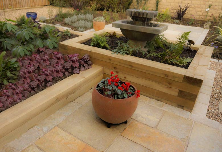 example of completed garden landscaping